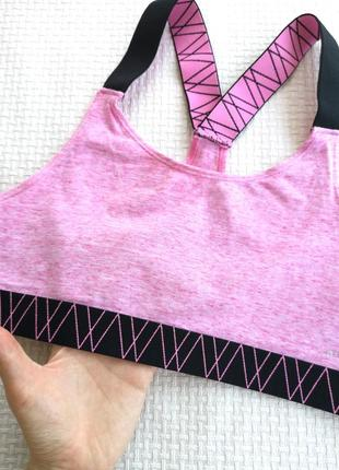 Хлопковый розовый кроп топ c&a m/l2 фото