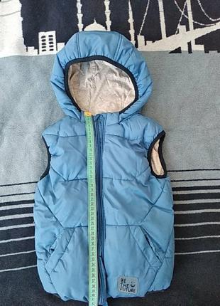 Теплая жилетка для мальчика 4-5 лет 110 см