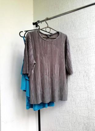 Плисерованая блузка с отливом