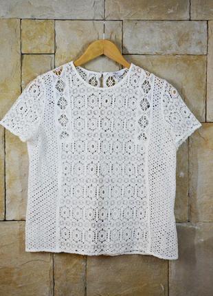 Акция 1+1=3! круженая блуза макраме ажурная с красивой спинкой от next