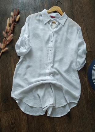 Рубашка удлиненная свободного кроя, туника