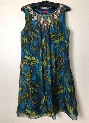 Красивенное платье из натурального шелка monsoon