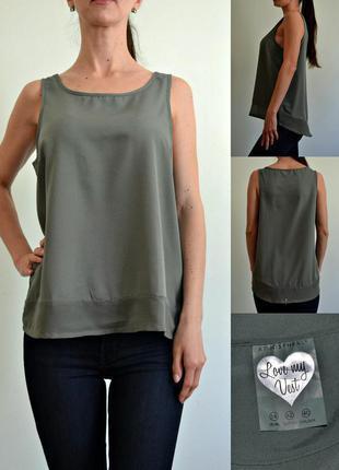 Легкая блуза с шифоновой вставкой снизу