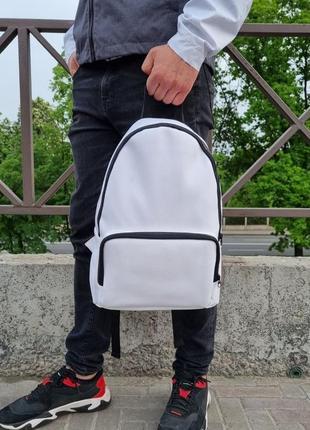 Новый белый рюкзак, городской большой рюкзак из эко кожи