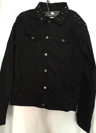 Крута чорна джинсова куртка zara