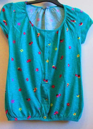 Легкая блуза футболка marks&spenser котон размер 8