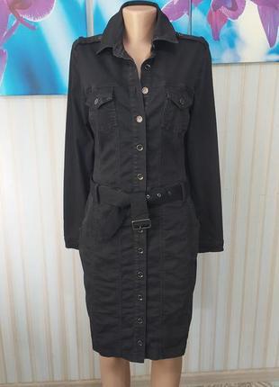 Абалденное джинсовое платье рубашка миди