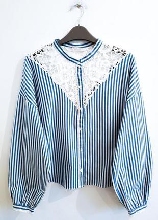 Блузка с объемными рукавами zara