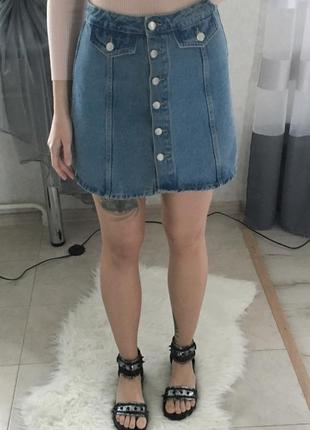 Винтажная юбка с пуговичками denim co