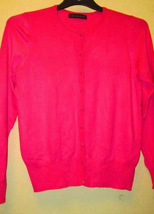 Красивый розовый кардиган свитерок marks&spenser размер 14