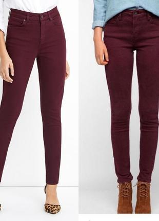 Джинсы/брюки бордовые logg h&m