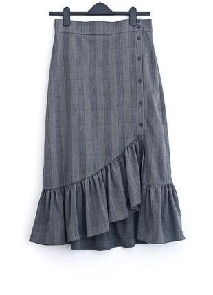 Шикарная ассиметричная юбка zara
