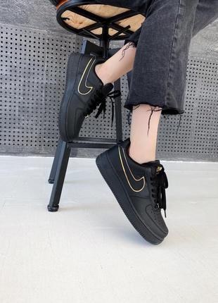 Nike air force 1 07 essential black/gold