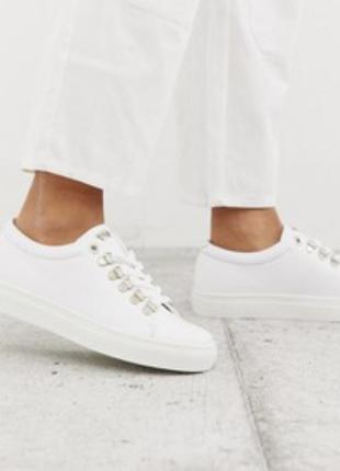 Swear натуральные кожаные кеды кроссовки белые
