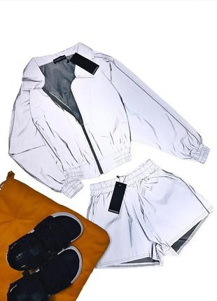 Рефлективный костюм олимпийка+шорты