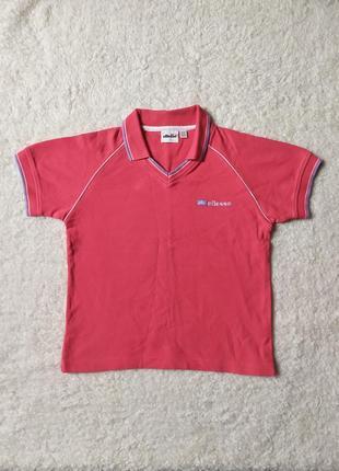 Укороченная футболка поло ellesse размер m