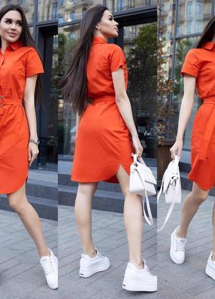 Платье рубашка коттон разные цвета