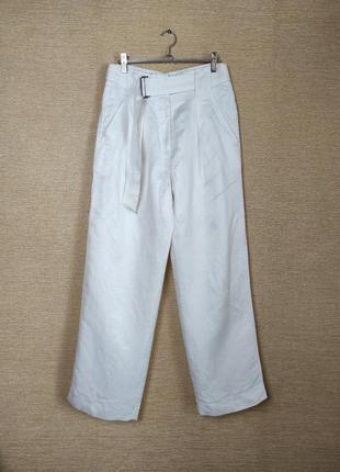 Широкие брюки штаны высокая посадка из складками