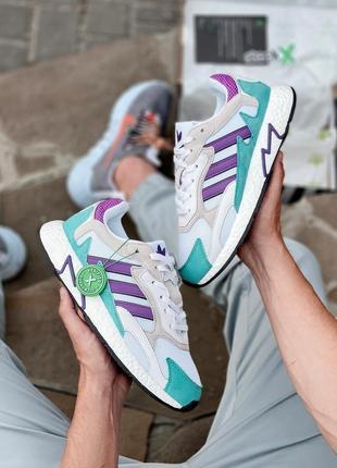 Прекрасные женские кроссовки унисекс adidas tresc run white violet stockx цветные 36-45 р