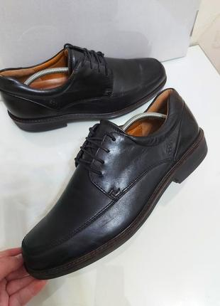 Кожаные шикарные туфли на шнурках ecco р. 44-45 (29 см)