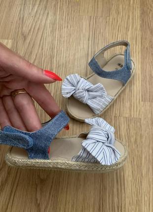 Новые детские сандали босоножки h&m