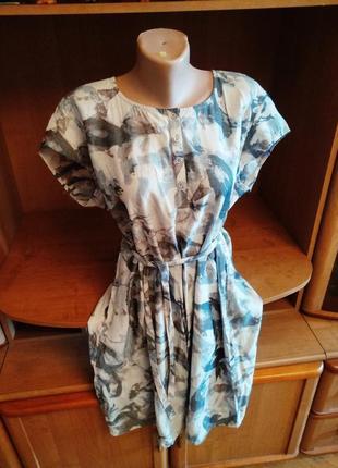 Новое брендовое стильное платье с поясом, xl xxl