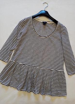 Тельняшка блуза с рюшей lindex