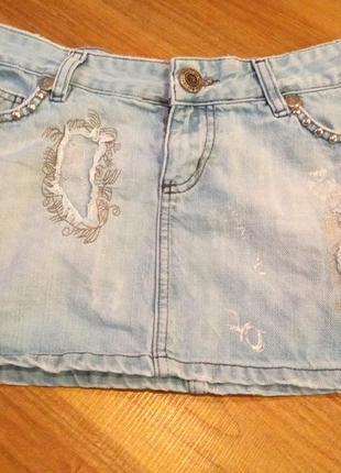 Джинсовая короткая юбка john balliann размер s