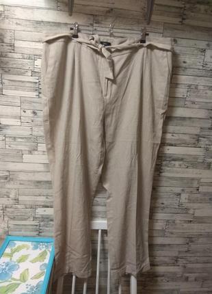 Льняные штаны большого размера