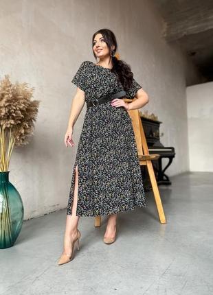 Платье женское с вырезом + пояс