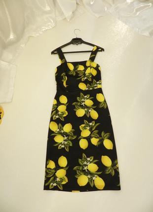 ✅ красивое платье по фигуре с сочными и яркими лимонами есть зацепка брак