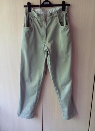 Брюки джинсы летние тонкие размер eu12 наш 48 высокая посадка