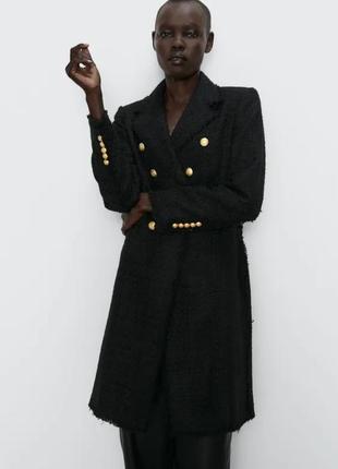 Распродажа, отправки до 24.06❤шикарное твидовое пальто