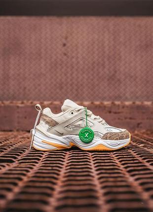 Nike m2k tekno beige yellow женские кроссовки бежевые найк