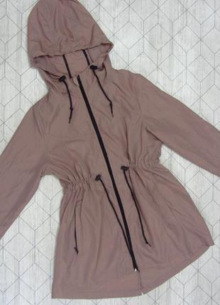 Парка куртка ветровка пудрового цвета нюд atmosphere размер м/l
