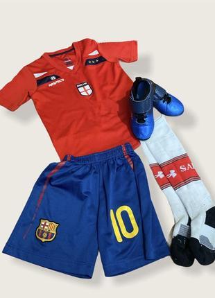Футбольная форма для мальчика футболка шорты гетры кроссовки