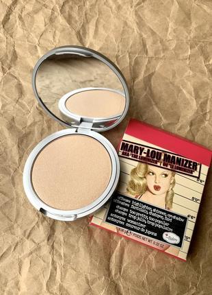 Хайлайтер thebalm mary-lou manizer highlighter & shadow