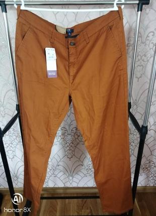 Хлопковые штаны брюки чино chino regular kiabi