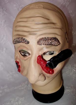 Хэллоуин маска латексная маскарадная размер универсальный