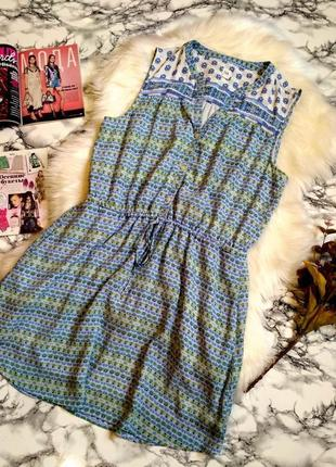 Красивое летнее платье с цветочным принтом размер l-xl
