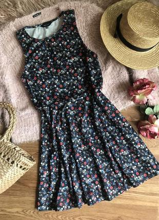 Платье в цветочный принт (10р)м