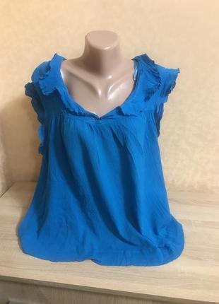 100% котон воздушная яркая блуза