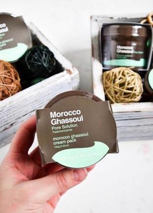 Крем - маска для обличчя з марокканської глини вулканічного походження (ghassoul) від корейського бренду too cool for school
