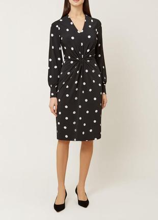 Красивое брендовое платье в горошек hobbs этикетка