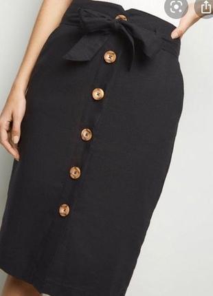 Новая льняная юбка new look