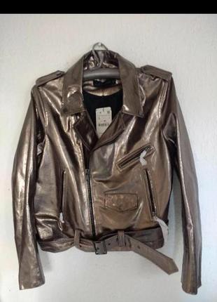 Куртка zara, натуральная кожа1