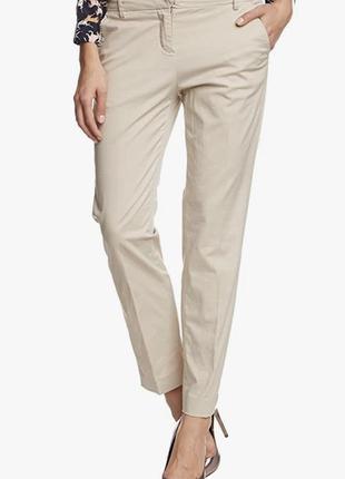 Женские шикарные классические бежевые штаны брюки marc o polo