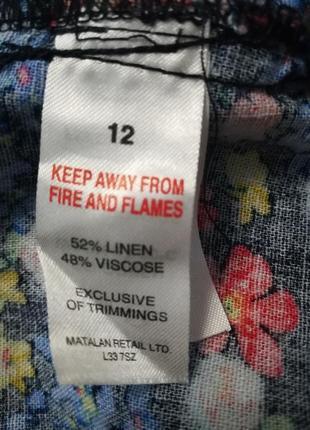 Дуже гарна блузка (льон 52%, віскоза 48 %)7 фото