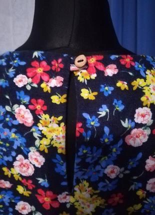 Дуже гарна блузка (льон 52%, віскоза 48 %)4 фото