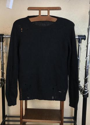 Шерстяной свитер с рваными эффектами от diesel